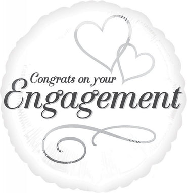 Two Hearts Engagement Foil Balloon 45cm