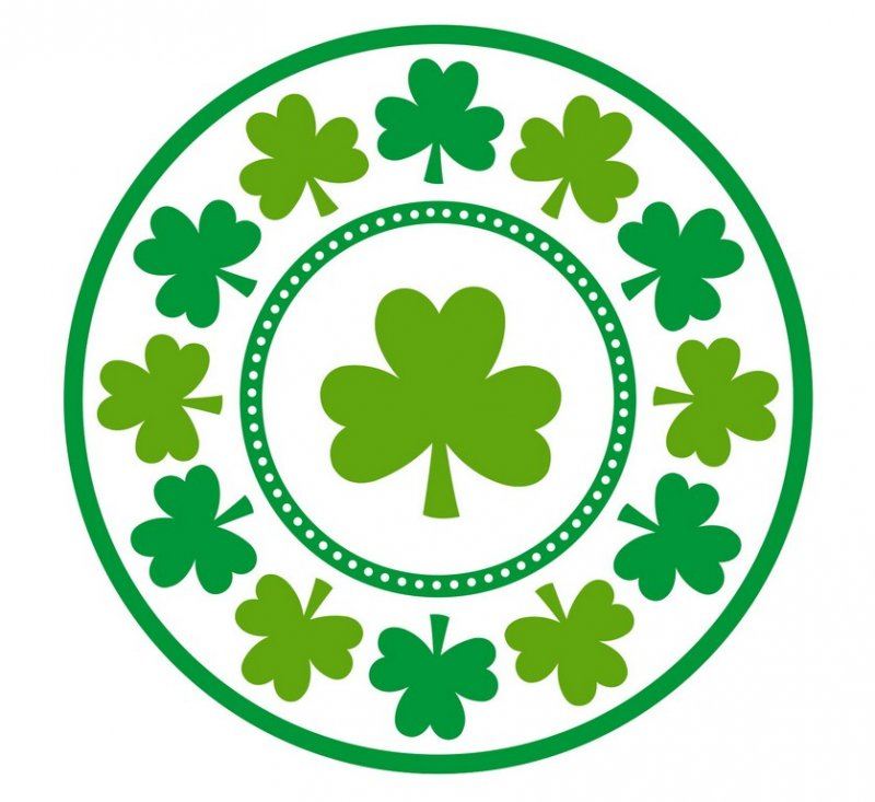 Lucky Shamrocks Round Plate 23cm 8pk - Party Savers