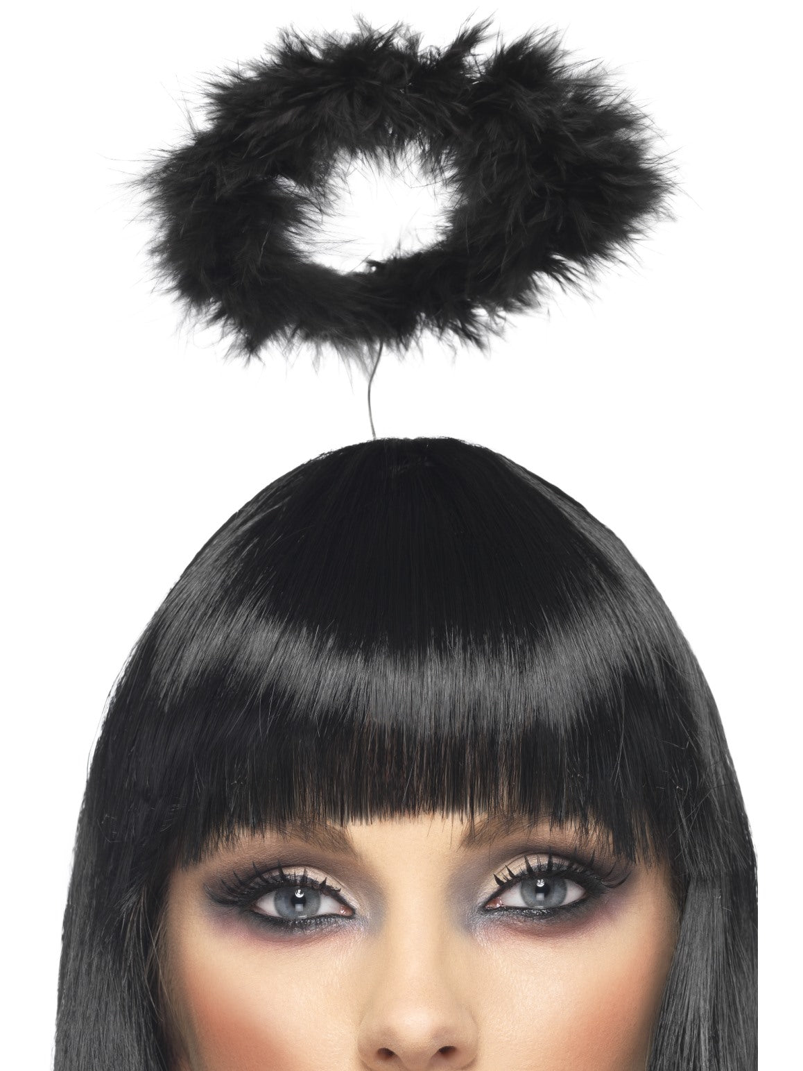 Black Marabou Angels Halo - Party Savers