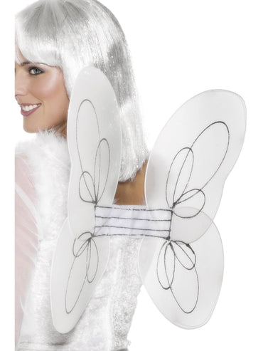 White Angel Glitter Wings