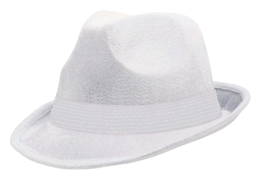 White Fedora Hat - Party Savers