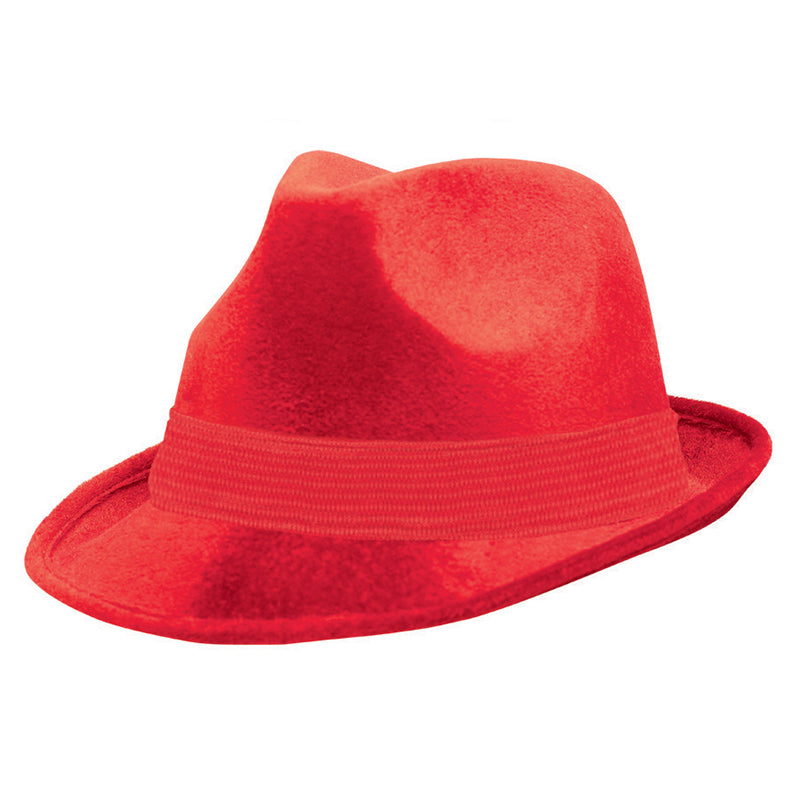 Red Fedora Hat - Party Savers
