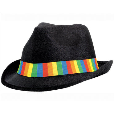Rainbow Fedora Hat