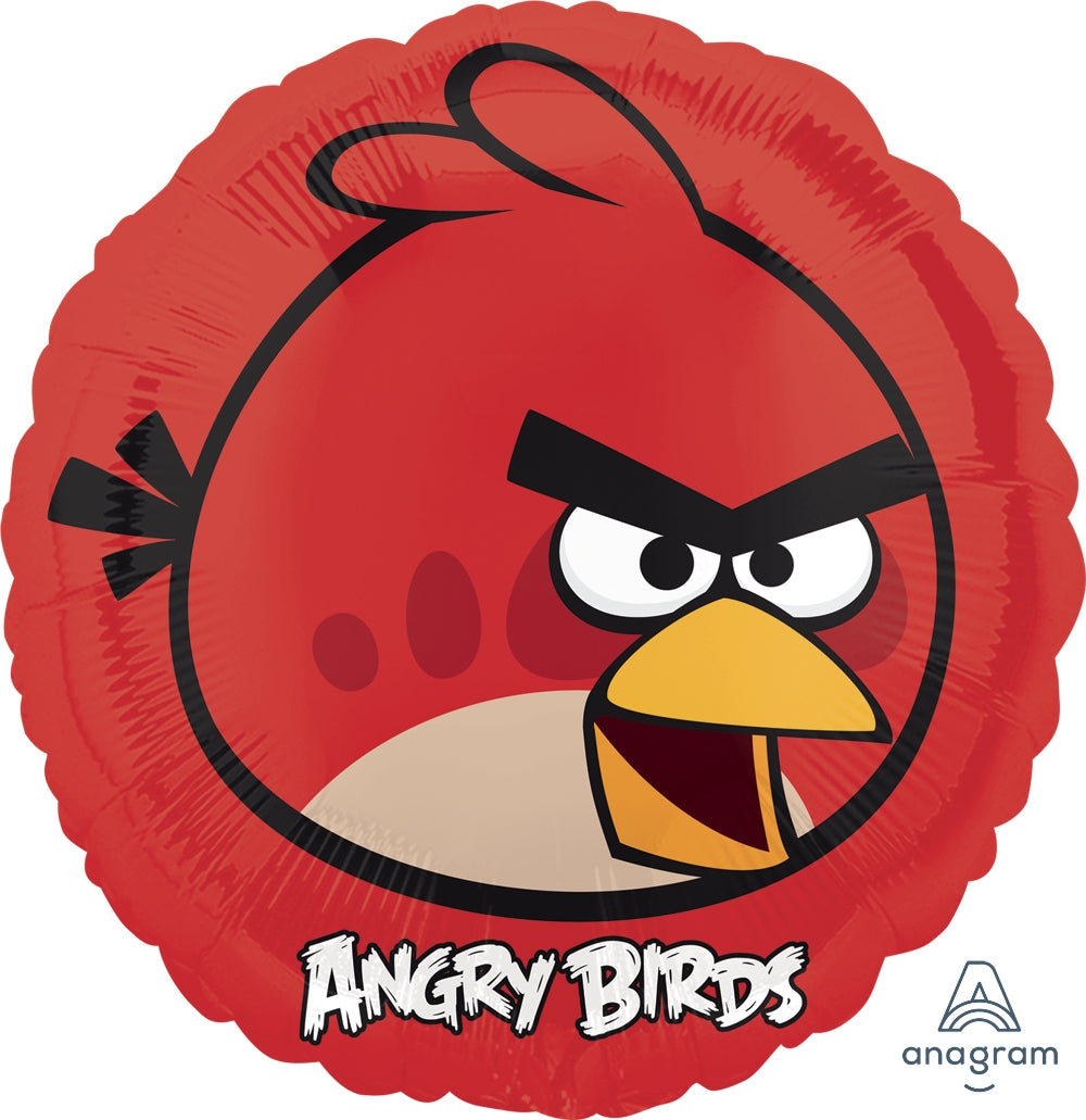 Angry Birds Red Bird Foil Balloon 45cm - Party Savers