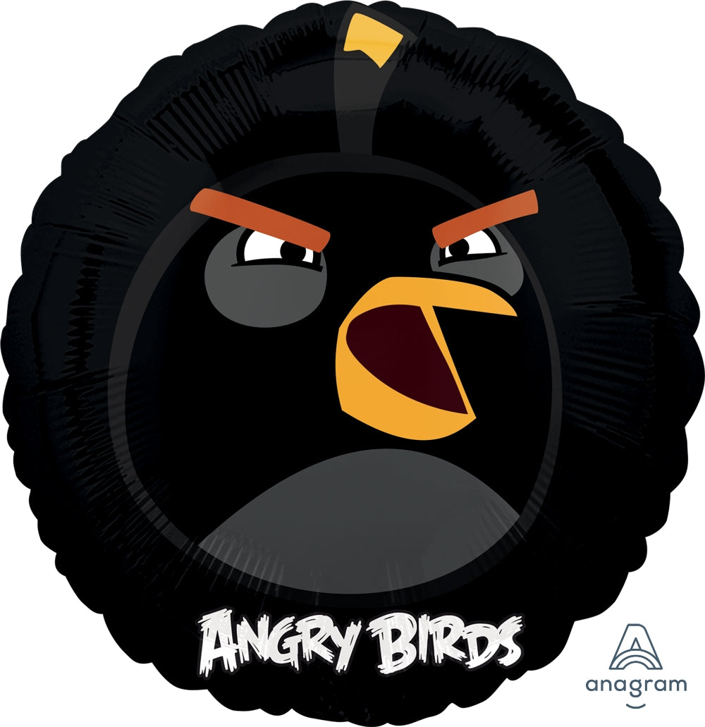 Angry Birds Black Foil Balloon - Party Savers