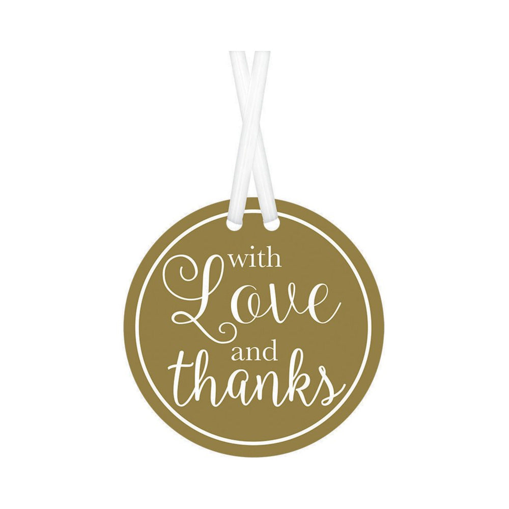Gold With Love & Thanks Tags 25pk