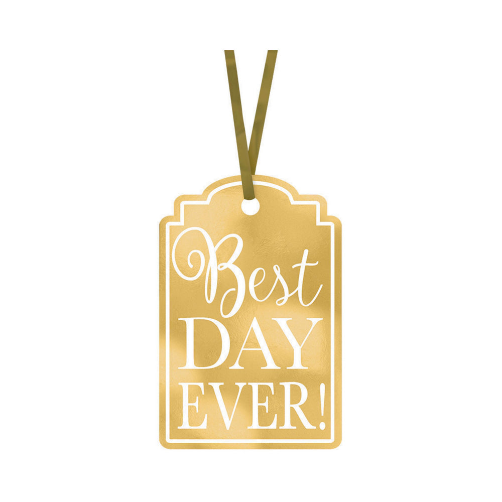 Gold Best Day Ever Tags 25pk - Party Savers