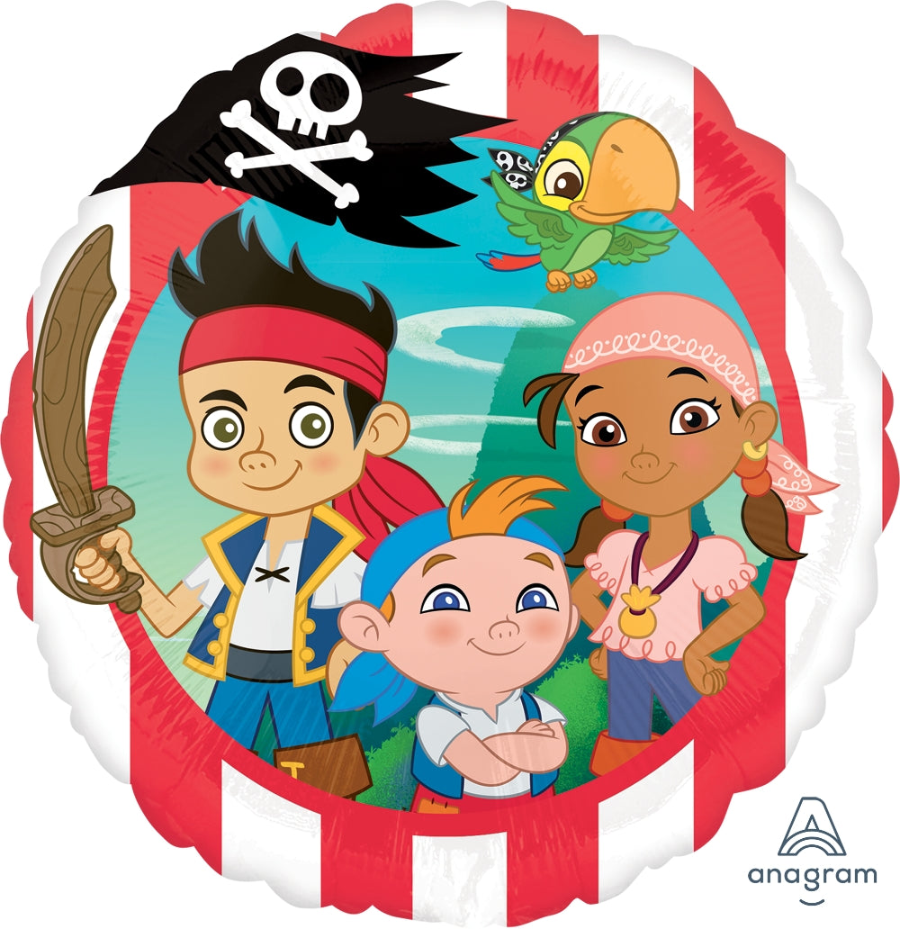 Jake Neverland Pirate Foil Balloons