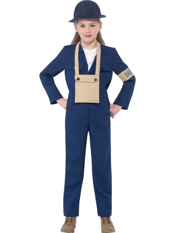 Girls Costume - Horrible Histories Air Warden