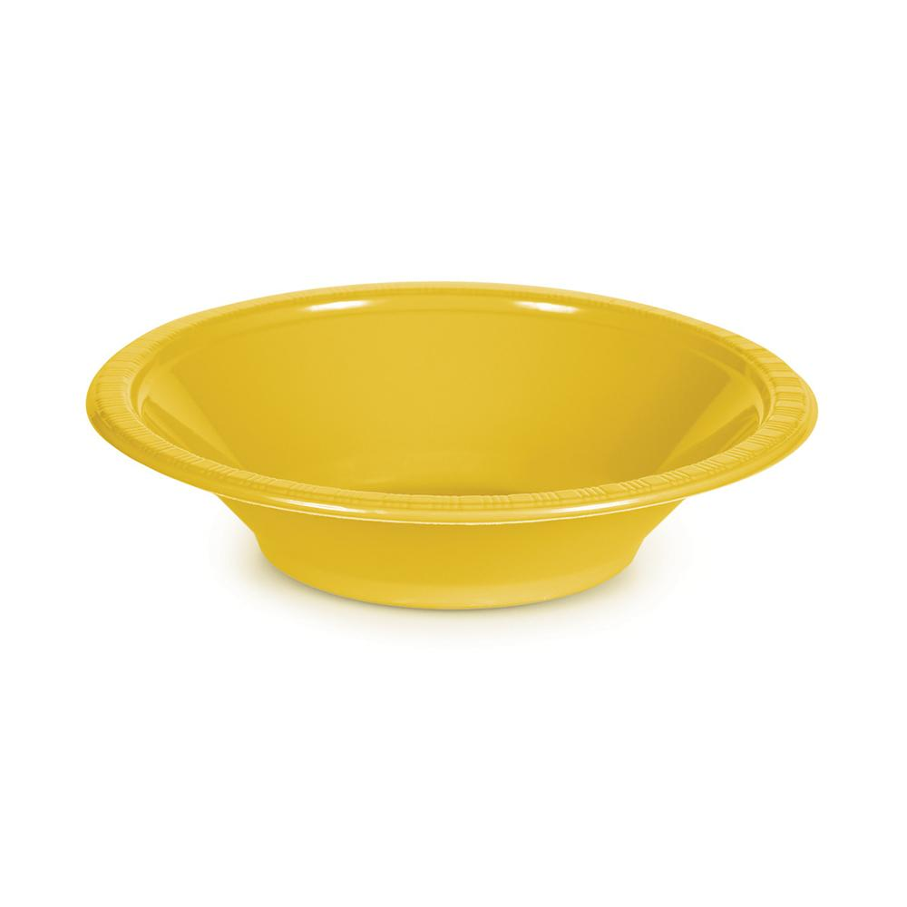 Orange Plastic Bowls 355ml 20pk - Party Savers
