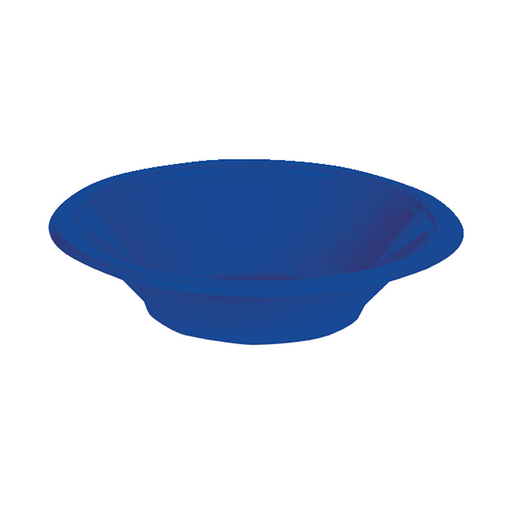 Royal Blue Plastic Bowls 355ml 20pk - Party Savers