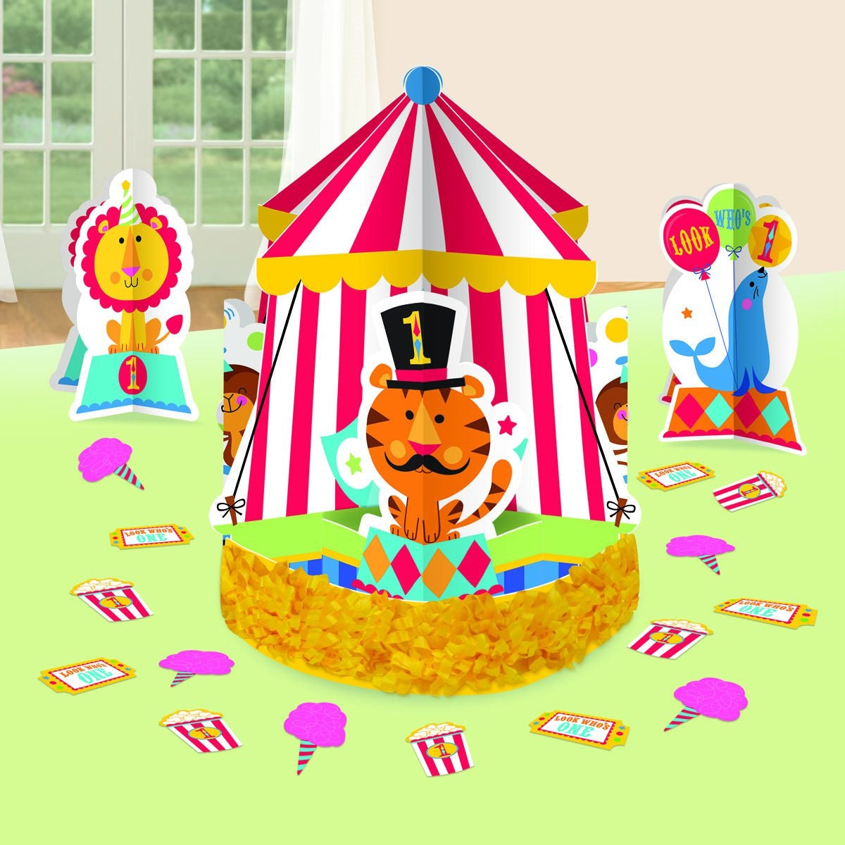 Fisher Price 1st Birthday Circus Table Decorating Kit - Party Savers
