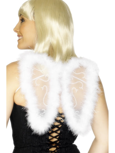 White Mini Glitter Wings