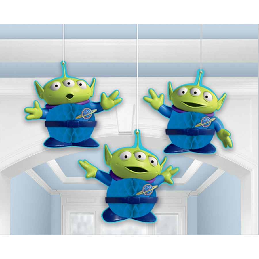 Toy Story 4 Hanging Honeycomb Decorations 3pk