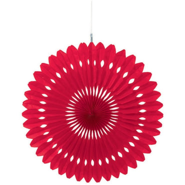 Hanging Fan Decoration - Apple Red Each