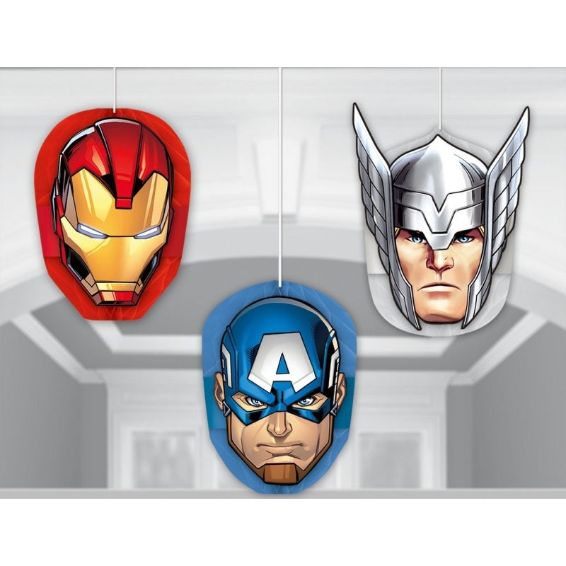 Avengers Epic Honeycomb Decorations 3pk - Party Savers