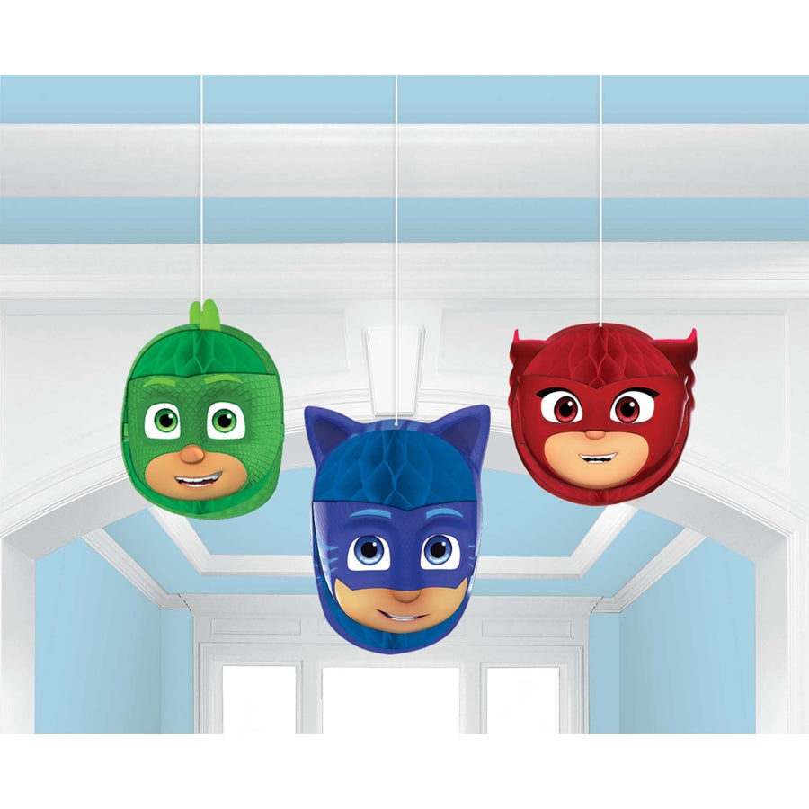 PJ Masks Honeycomb Decoration 3pk
