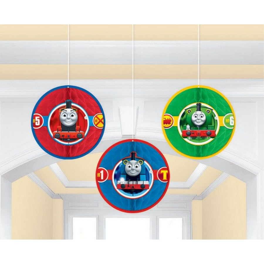 Thomas All Aboard Honeycomb Decorations 3pk