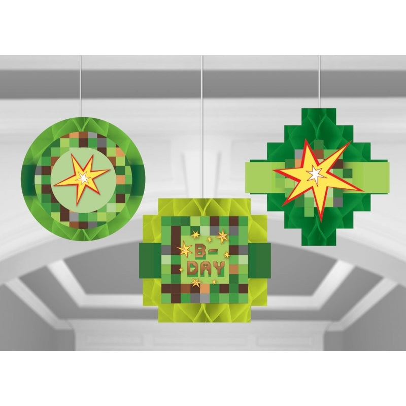 TNT Party! Honeycomb Hanging Decorations 3pk - Party Savers
