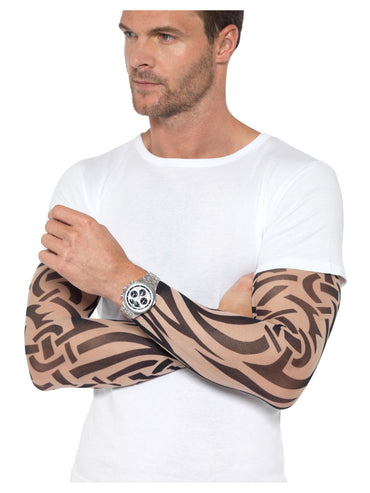 Multi Coloured Tattoo Arm Sleeves 2Pk