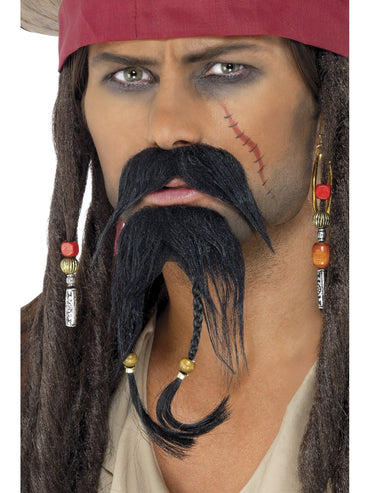 Black Pirate Facial Hair Set