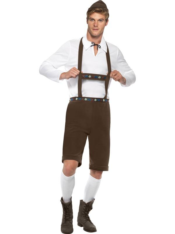 Mens Costume - Brown Lederhosen Bavarian