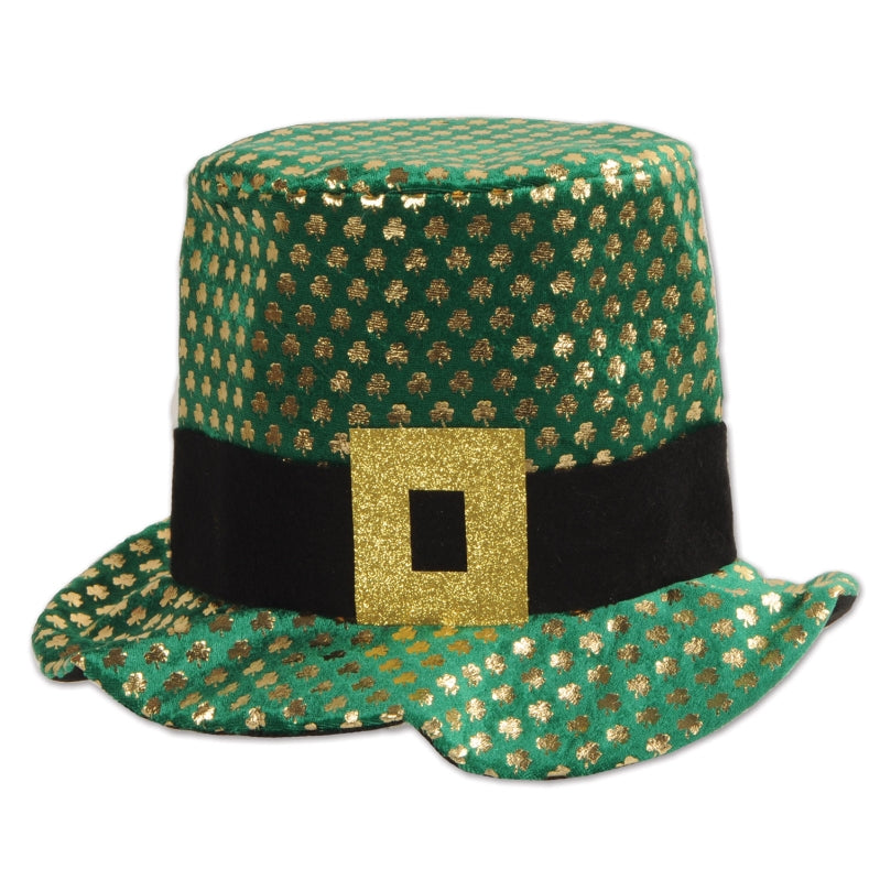 Plush Gold Shamrock Hat - Party Savers