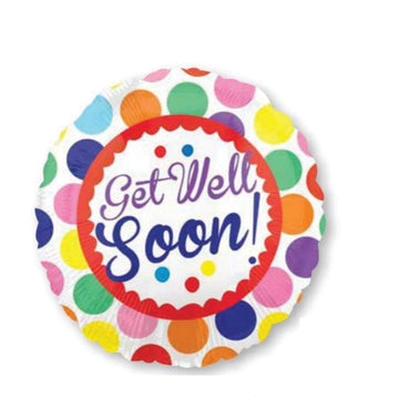 Dots Get Well Soon Foil Balloon 45cm
