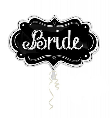 Bride Charlkboard Marquee SuperShape 69cm x 41cm Each