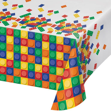 Lego block party supplies lego party decorations party savers block party plastic tablecover 137cm x 259cm stopboris Gallery