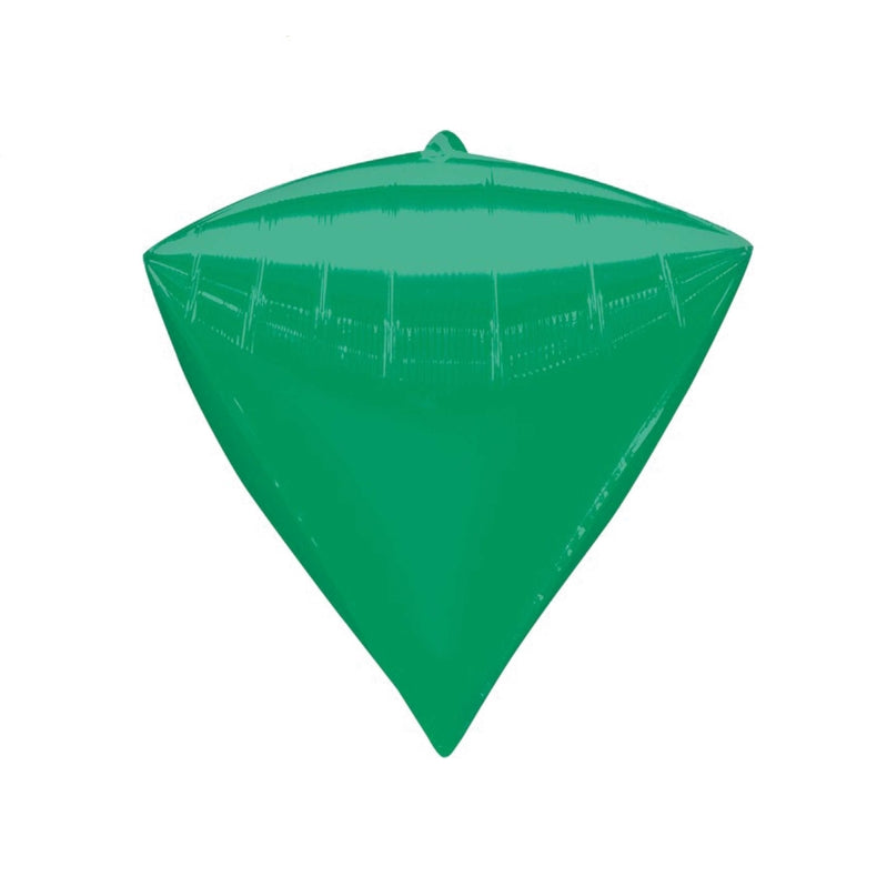 Green Diamondz Foil Balloon 38cm x 43cm