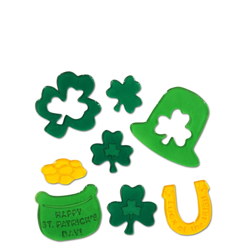 St Patrick's Day Gel Clings 7.50in x 7.50in - Party Savers