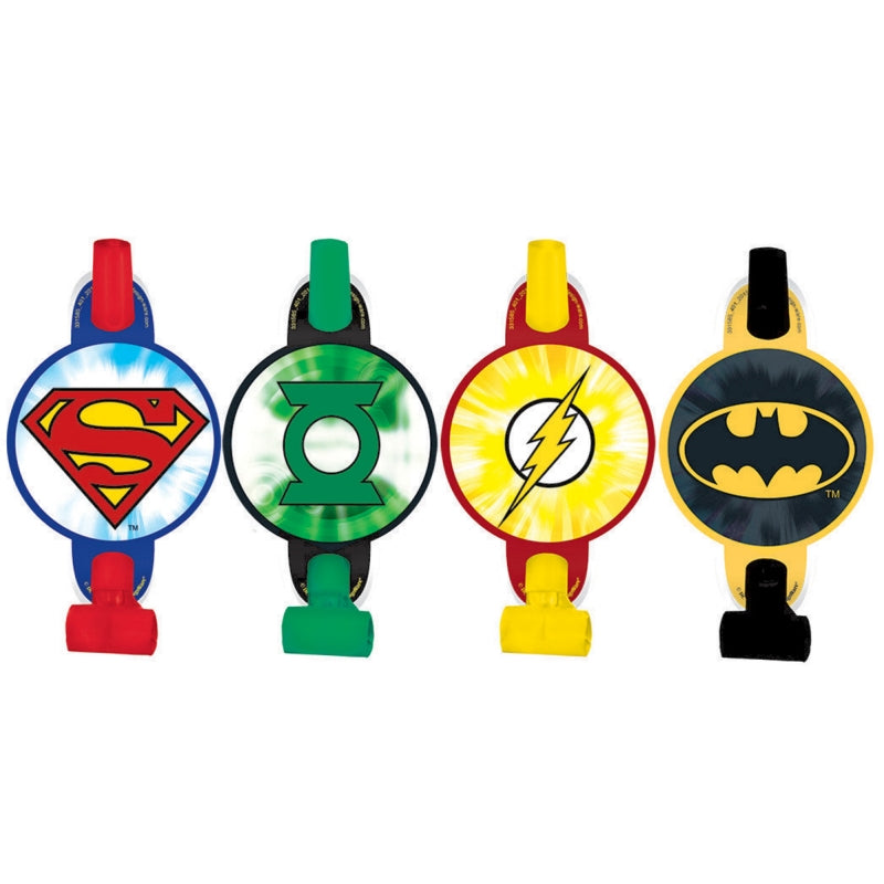 Justice League Blowouts 8pk - Party Savers