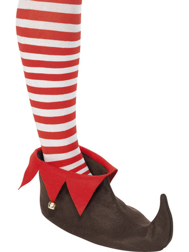 Brown Elf Shoes with Bells - Party Savers