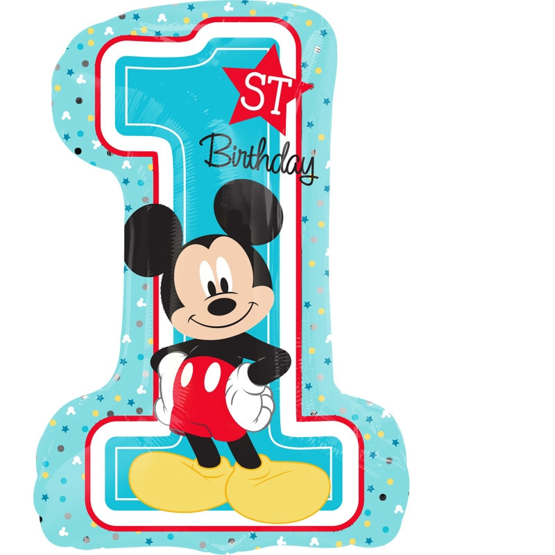 Mickey Mouse 1st Birthday SuperShape Foil Balloon