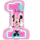 Minnie 1st Birthday SuperShape Foil Balloon 48cm x 71cm - Party Savers