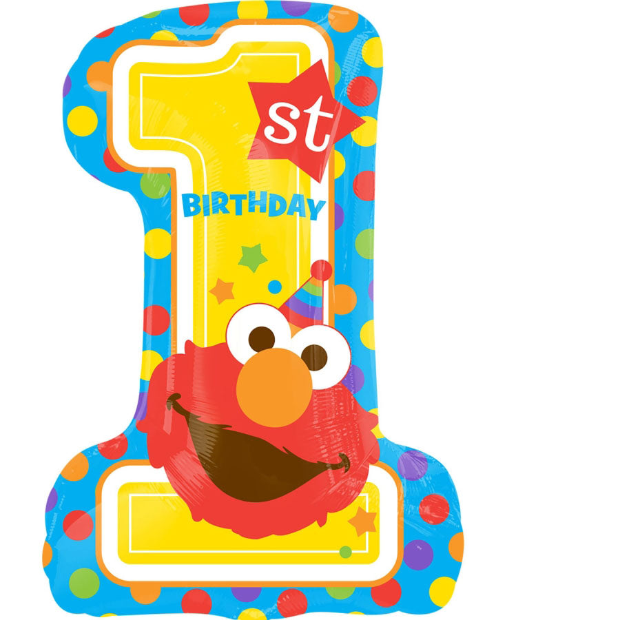 Sesame Street 1st Brithday SuperShape Foil Balloon 48cm x 71cm