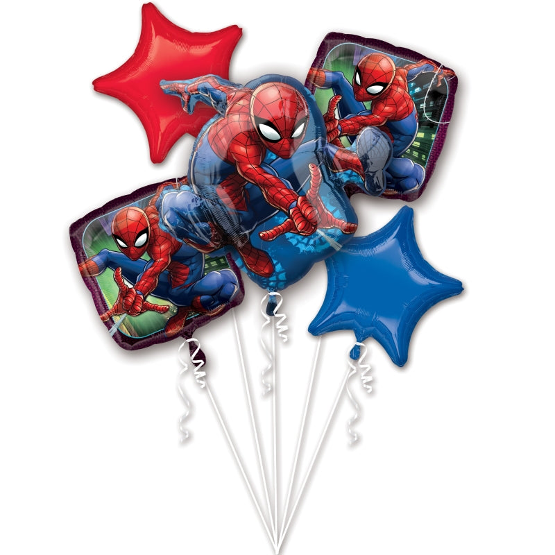 Spider-Man Foil Balloon Bouquet  5pk - Party Savers