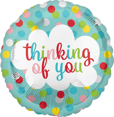 Dots Thinking of You Foil Balloon 45cm