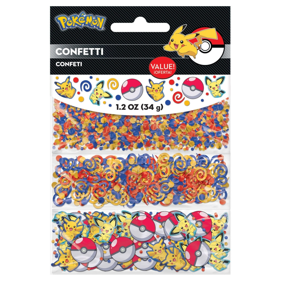 Pokemon Core Foil & Cardboard Pieces Confetti Value Pack 34g - Party Savers