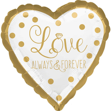 Sparkling Gold Wedding Foil Balloon 45cm
