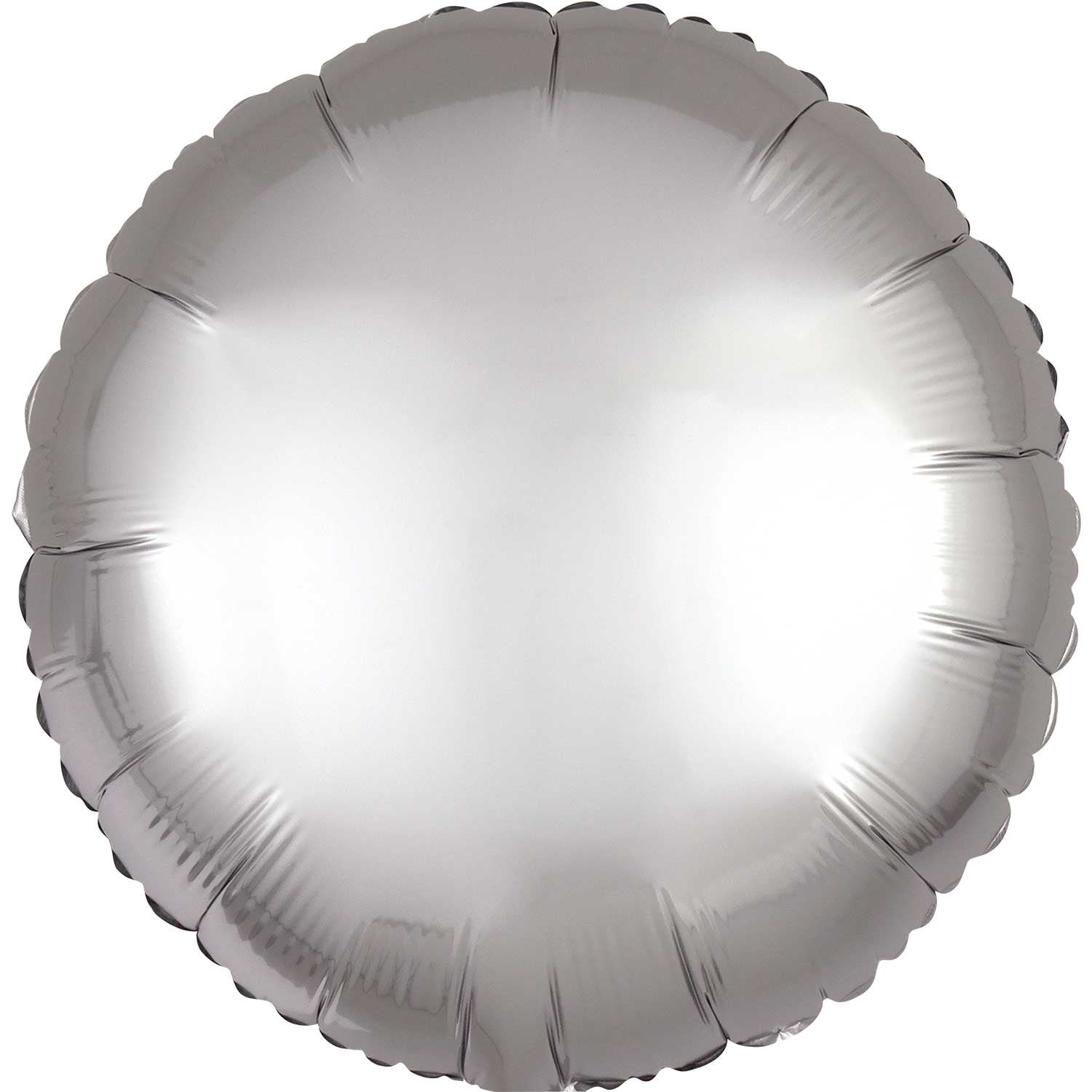 Pastel Blue Satin Round Foil Balloon 43cm - Party Savers