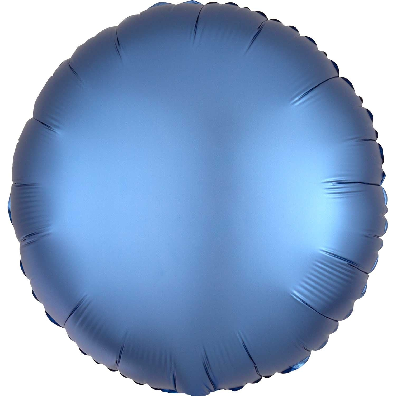Royal Blue Satin Round Foil Balloon 43cm