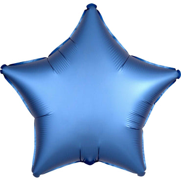 Royal Blue Satin Star Foil Balloon 48cm