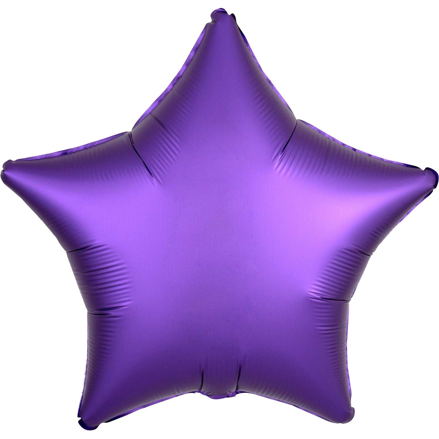 Silver Satin Star Foil Balloon 48cm - Party Savers