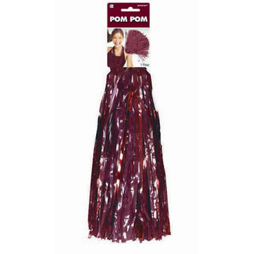 Burgundy Cheerleader Pom Pom 1pk