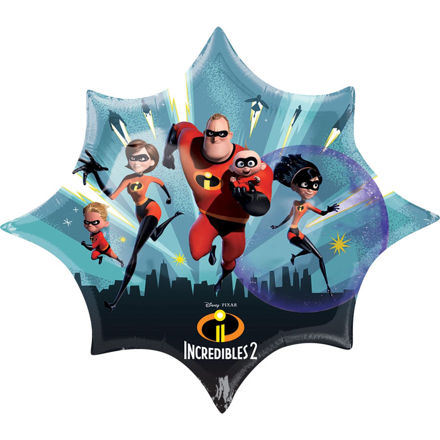 Incredibles 2 SuperShape Foil Balloon 88cm x 73cm - Party Savers