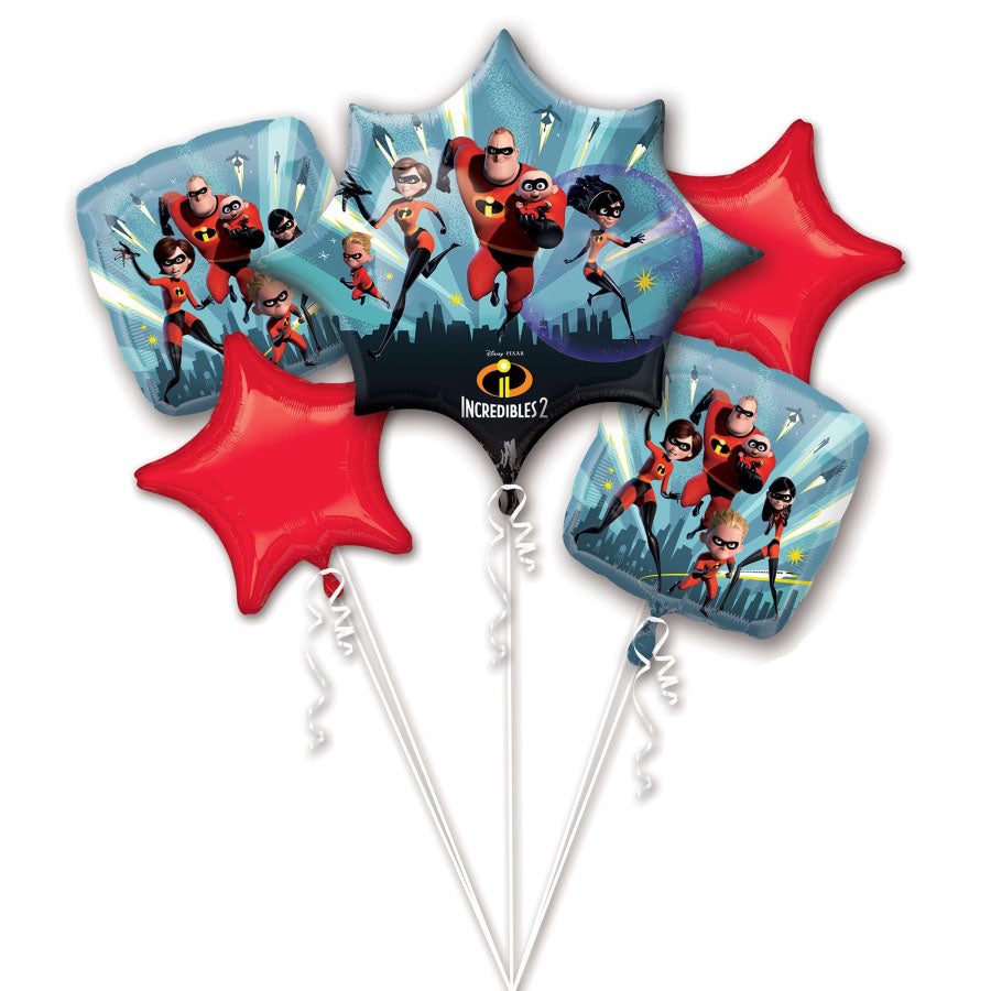 Incredibles 2 Bouquet Foil Balloon 5pk
