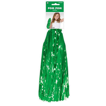 Green Cheerleader Pom Pom 1pk