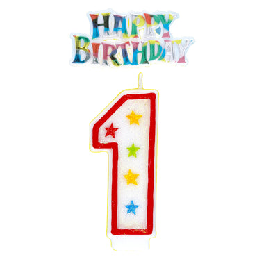 Number 1 Candle With Cake Topper